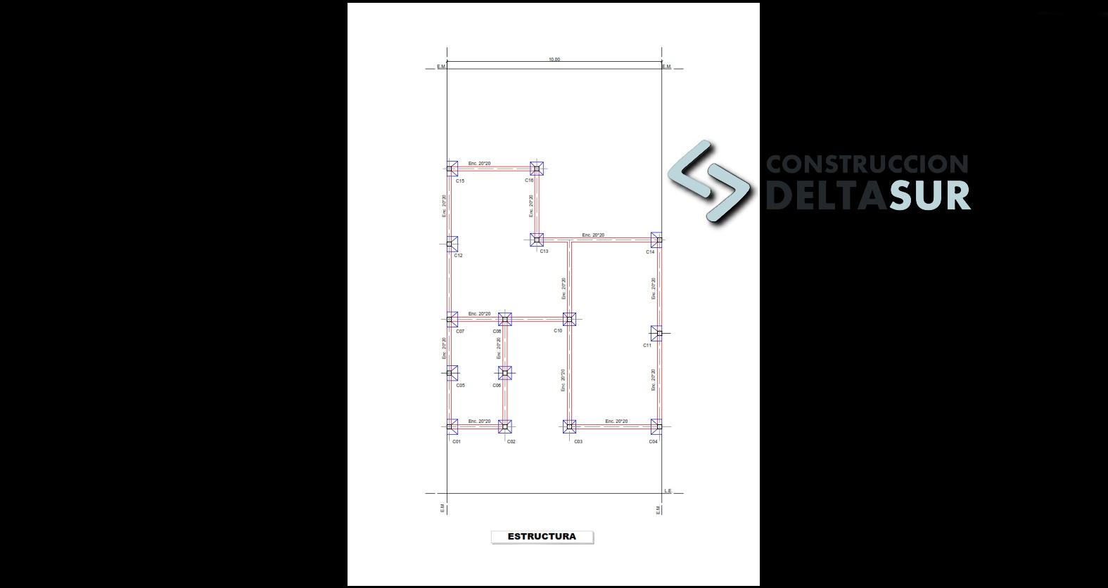Plano de Estructura